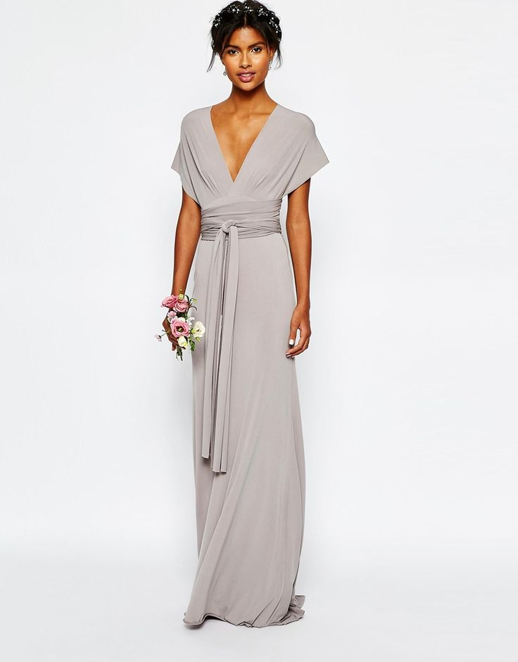Superb We ure in love with this amazing opal grey bridesmaid dress