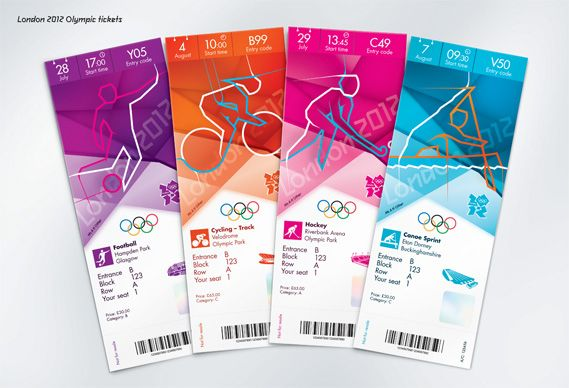 Graphic Design Blog, Packaging Design Blog and Home Design Blog: Olympic Tickets