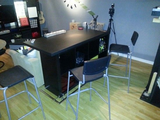expedit bar table ikea hackers clever ideas and hacks for your ikea - Ikea Bar Table Hack