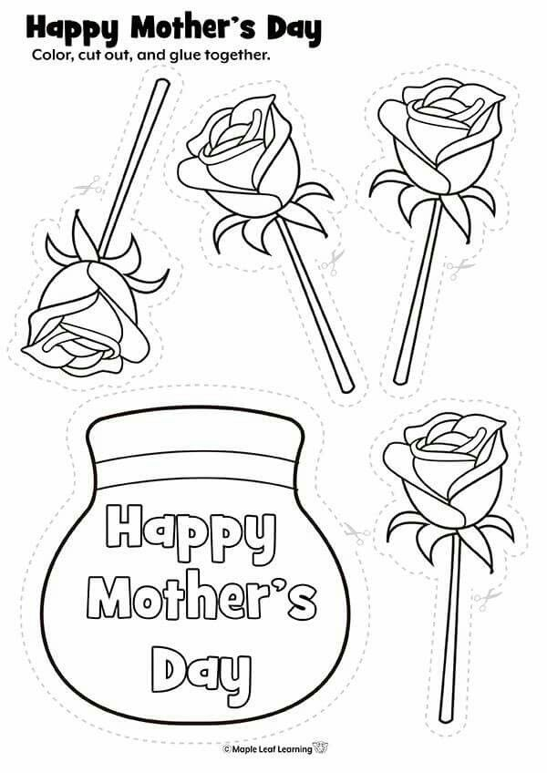 Pin By Okul Oncesi Etkinlikleri On Anneler Gunu Mothers Day Crafts For Kids Mother S Day Colors Mothers Day Coloring Pages