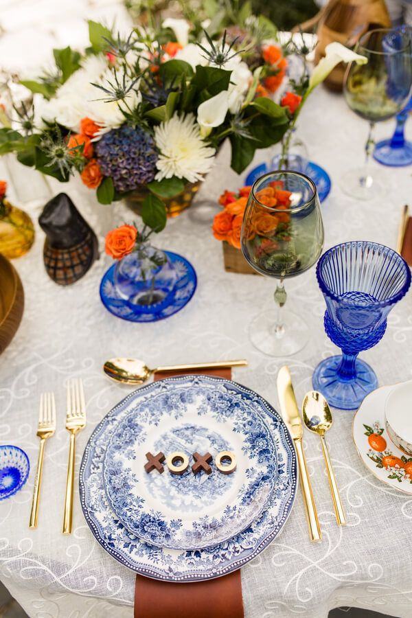 English Garden Wedding - vintage place setting | Christy McKee Photography on @knotsvilla via @aislesociety