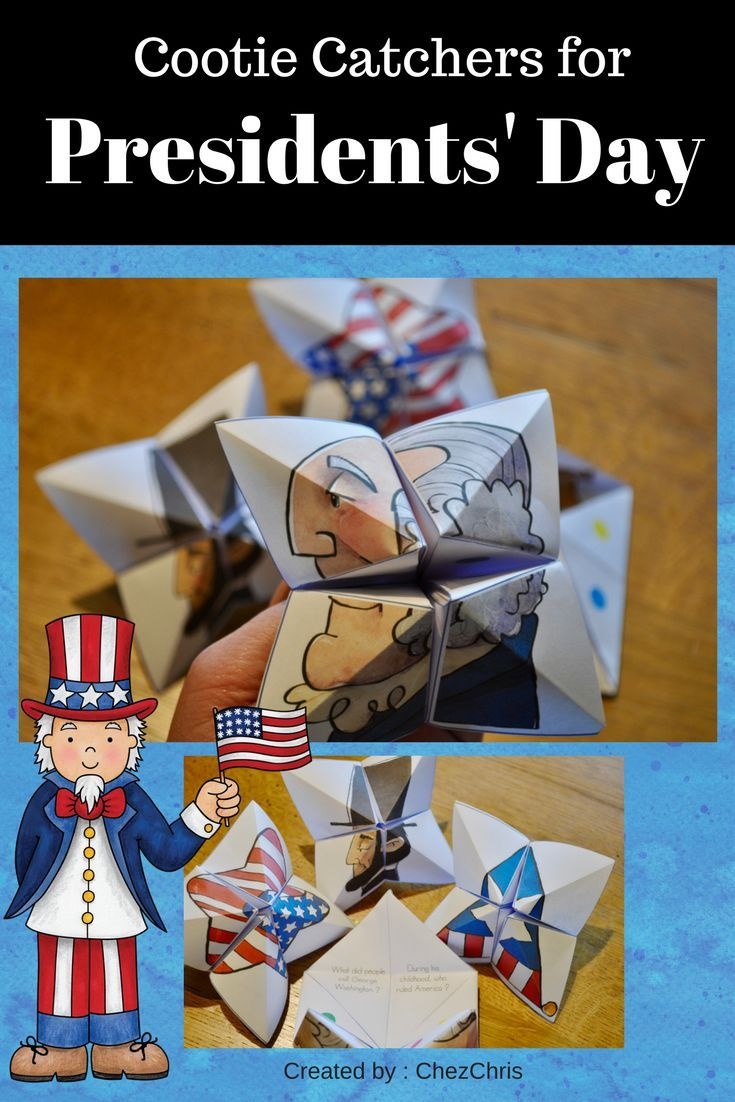 Cootie Catchers / Fortune Tellers – Presidents' Day February Actions