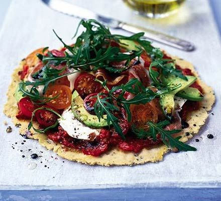 Fresh topped pizza. This gluten-free pizza is sure to become a family favourite