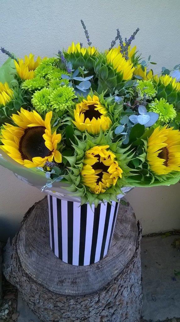pin stripe vinyl wrapped vase