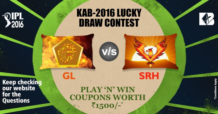 Today's Contest Rooting for GL or Cheering for SRH? Guess the final contender. Play and win!