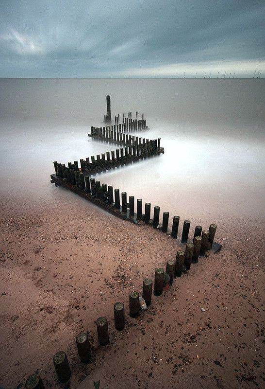 Groynes, Caister on sea | by mikebe3