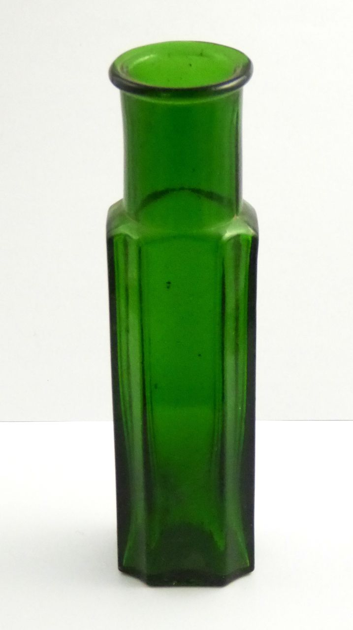 Unusual Large Antique 1800s Green Glass Embossed Numbers 19cm High - The Collectors Bag