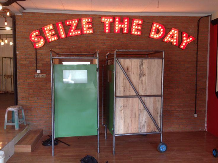 Carpe Diem Seize The Day letters sign signage
