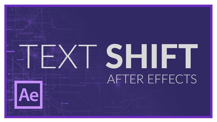 TEXT SHIFT EFFECT in AFTER EFFECTS