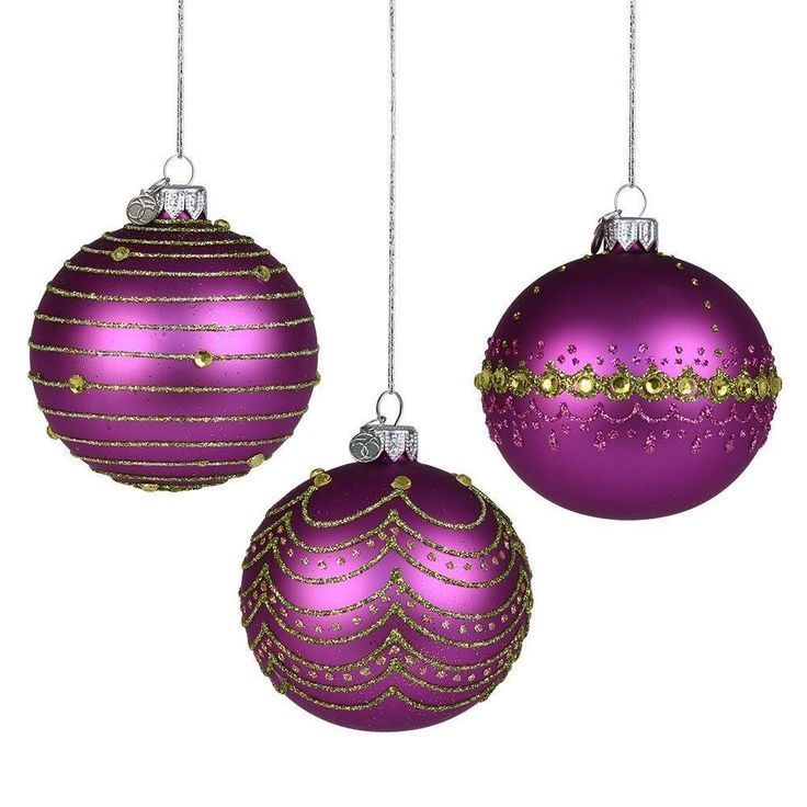 ornaments christmas purple christmas ornaments. Black Bedroom Furniture Sets. Home Design Ideas