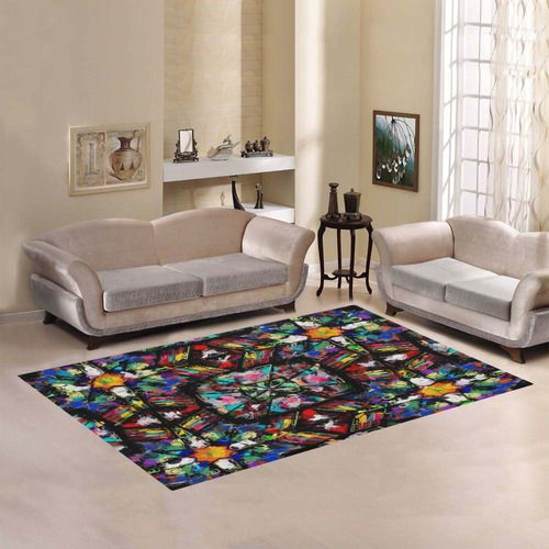 Ecuadorian Stained Glass 0760 Area Rug by Khoncepts