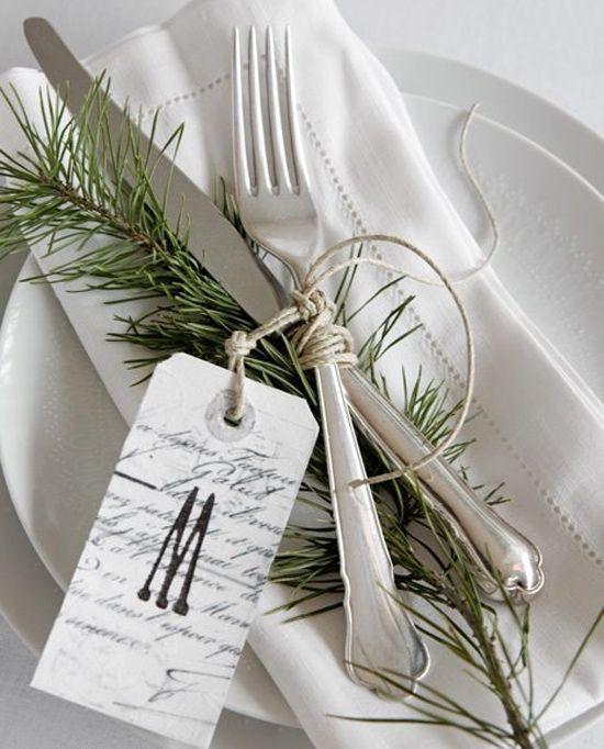 Marque place uban chic Idées de décoration pour la table de Noël