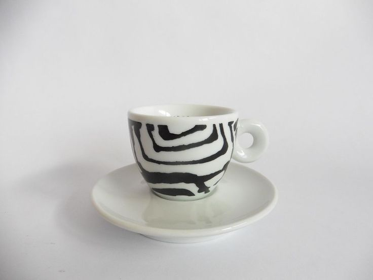 ILLY COLLECTION ROBERTA PETROBELLI 1995 SPIRALI - 1 CUP and SAUCER a