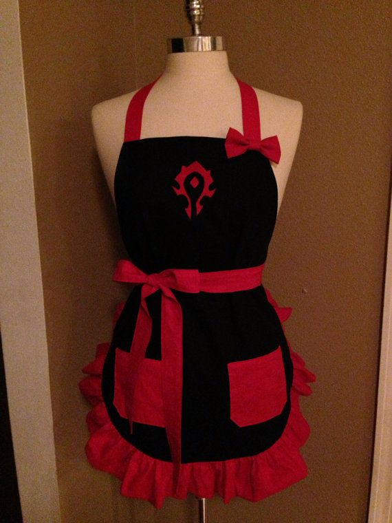 WoW Horde Embroidered Apron от templecustoms на Etsy