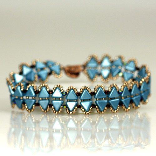 Cleopatra Bracelet Free Tutorial Eureka Crystal Beads design using Kheops Puca beads