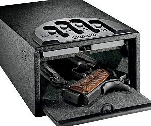 Fingerprint Gun Safe. Don't just keep your gun a little bit safe — keep it completely locked down with the fingerprint gun safe. The fingerprint gun case only allows authorized fingerprints to access the safe, so you can store you guns without worry of unwanted use.