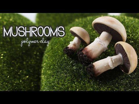 polymer clay Mushrooms TUTORIAL - YouTube
