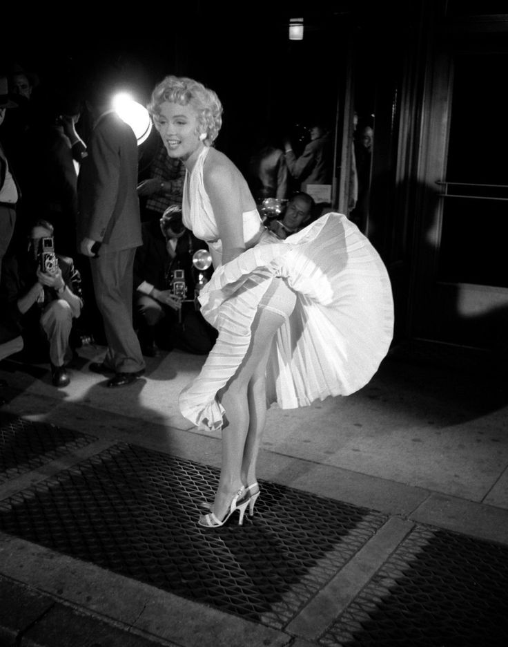 Marilyn Monroe on the set of The Seven Year Itch (1955).
