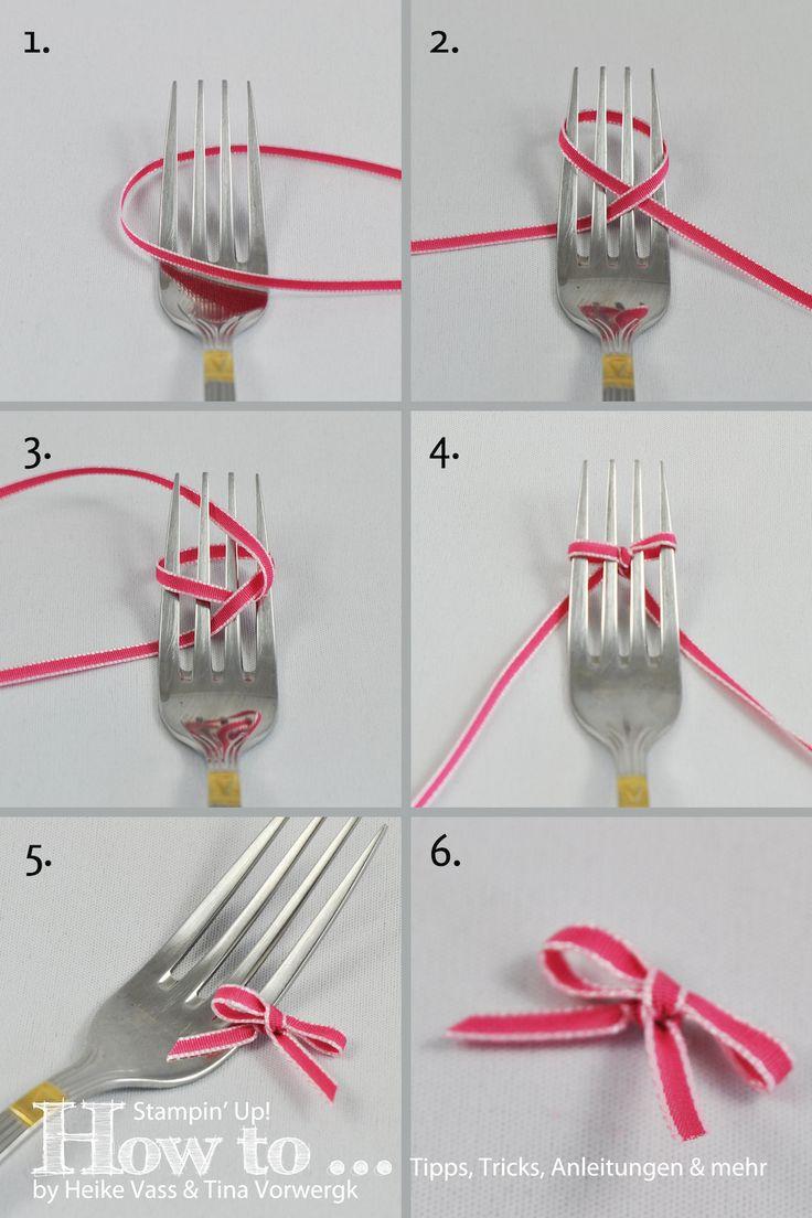 HOW TO... Schleifen binden