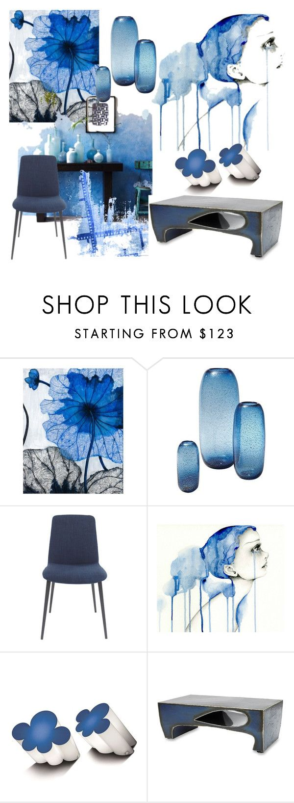 """♥"" by macopa on Polyvore featuring interior, interiors, interior design, home, home decor, interior decorating, Grandin Road, Global Views, Moe's Home Collection and Centro Studi Poltronova"