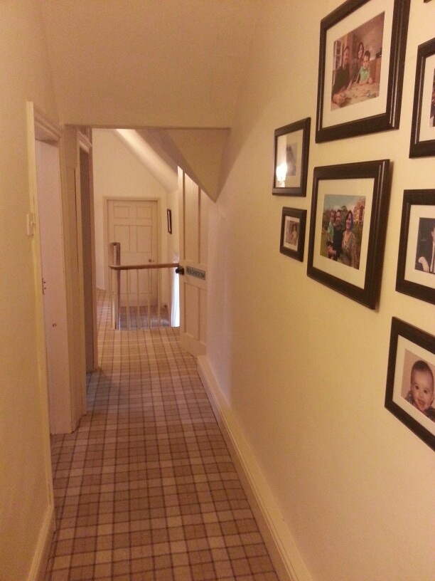 Brintons tartan carpet for our hallway.  Modern and traditional at the same time