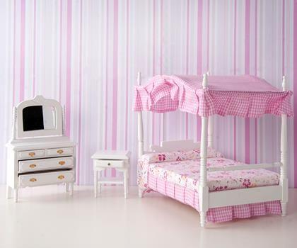 Minyatür Pembe Yatak Odası Takımı