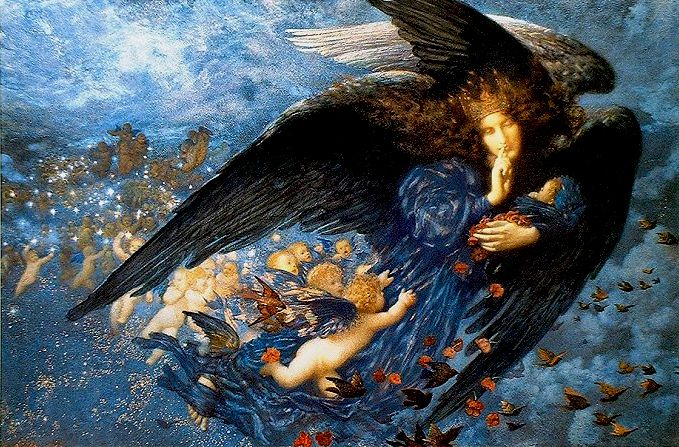 Edward Robert Hughes  Night with her Train of Stars 1912