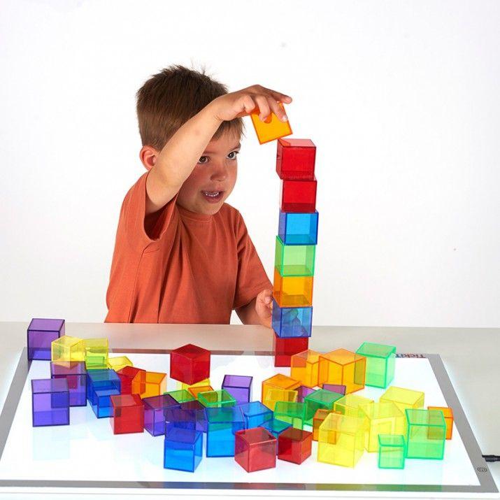 Set De 54 Cubos De Colores Translucidos Tickit Novedades Con