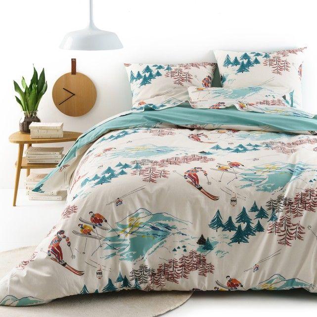 Sancy Printed Cotton Duvet Cover Ecru Multi Coloured Print La