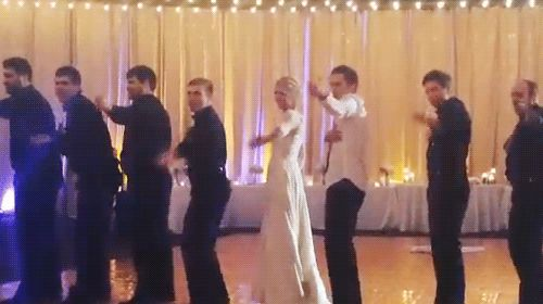 Tyler Joseph at his wedding. This is so cute and it's funny how Tyler did the dip better than Jenna. :P
