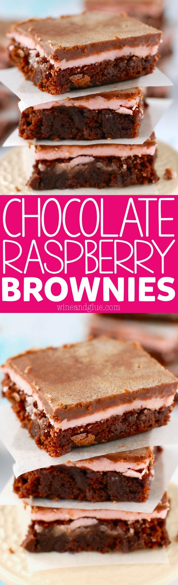 These Chocolate Raspberry Brownies are deliciously easy and such a perfect flavor combo!