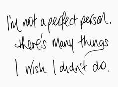 I'm Not A Perfect Person - The Reason Lyrics (Hoobastank)