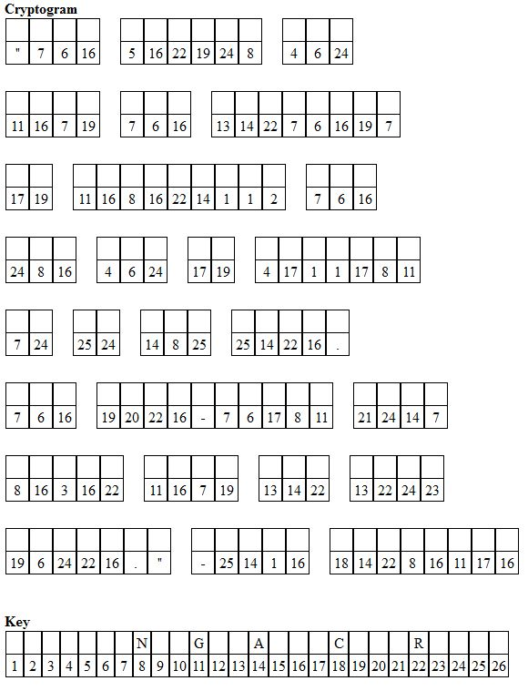 It's just an image of Adaptable Cryptogram Puzzles Printable