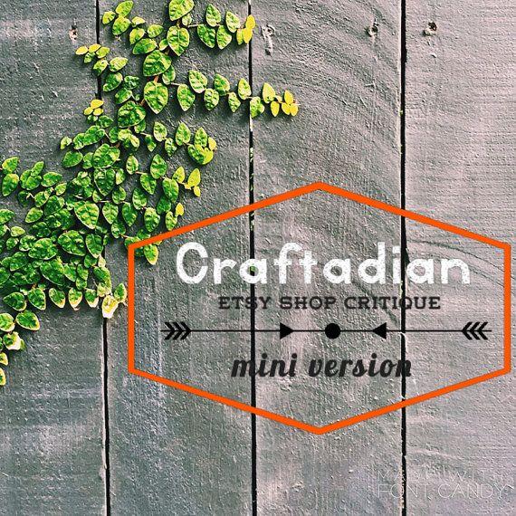 Quick Etsy Shop Critique  Mini Critiques  Etsy Shop by craftadian