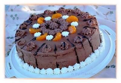 Τούρτα με Mousse au Chocolat και Πορτοκάλι