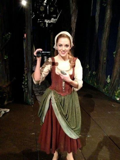 "LAURA OSNES (backstage at Broadway's ""Cinderella"")"