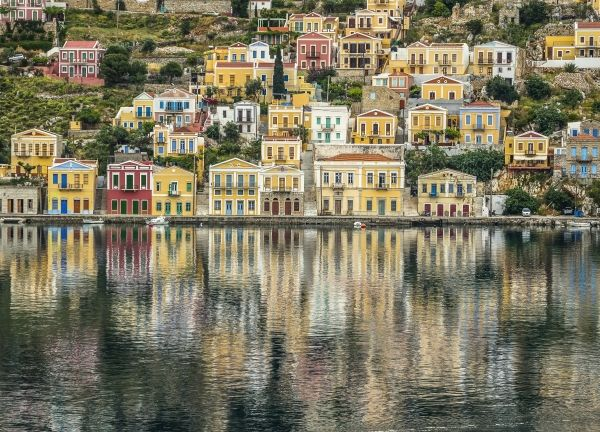 February reflections in Simi island