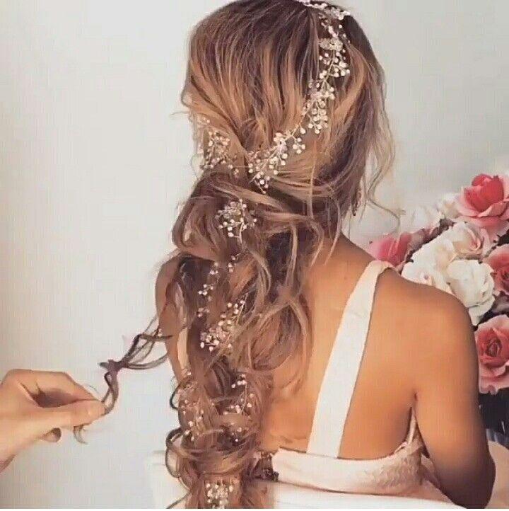 Penteado de noiva cabelo solto