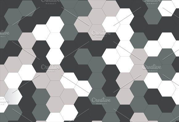 Vector of hexagon Camo Background by charnsitr on @creativemarket