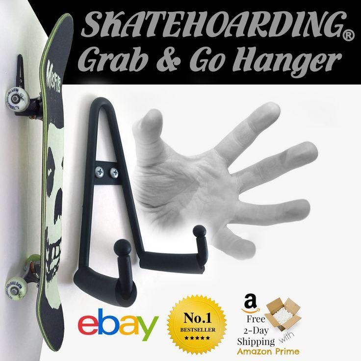 Grab go skateboard wall mount hanger skateboard wall