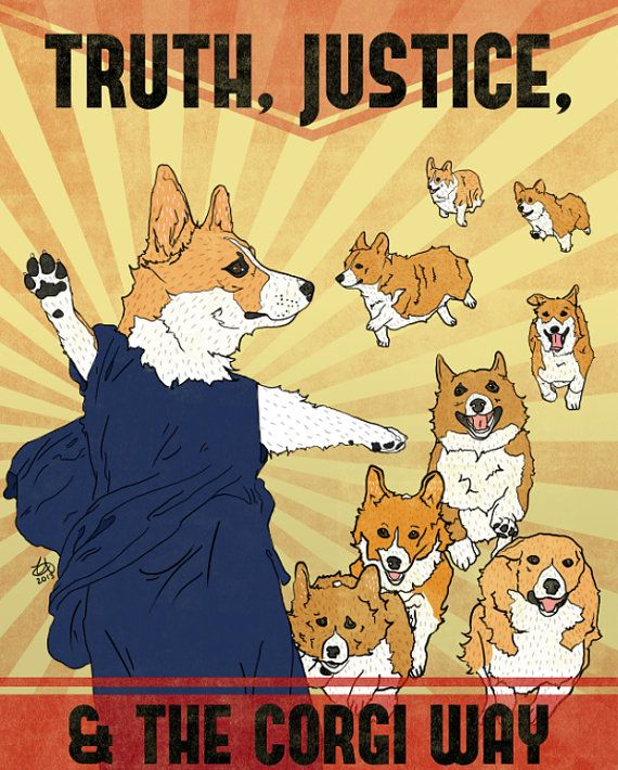 Corgis are out to dominate! Add to your corgi propaganda collection with this print. It is printed on 8x10 single weight matte paper with archival