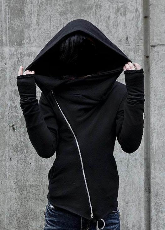 asymmetrical hooded sweatshirt