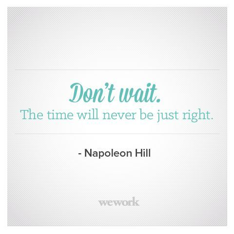 WeWork Inspirational Quote / Napoleon Hill