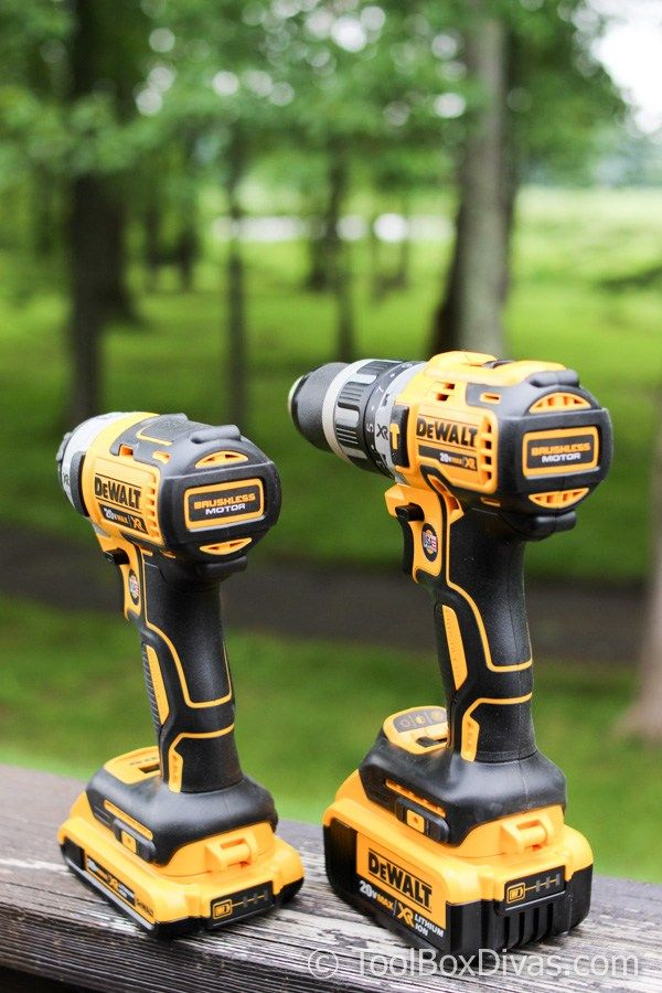Tool Review Dewalt 20 Volt Max Xr Lithium Ion Cordless Brushless Drill Impact Combo Kit Toolbox Divas Dewalt Combo Kit Tools