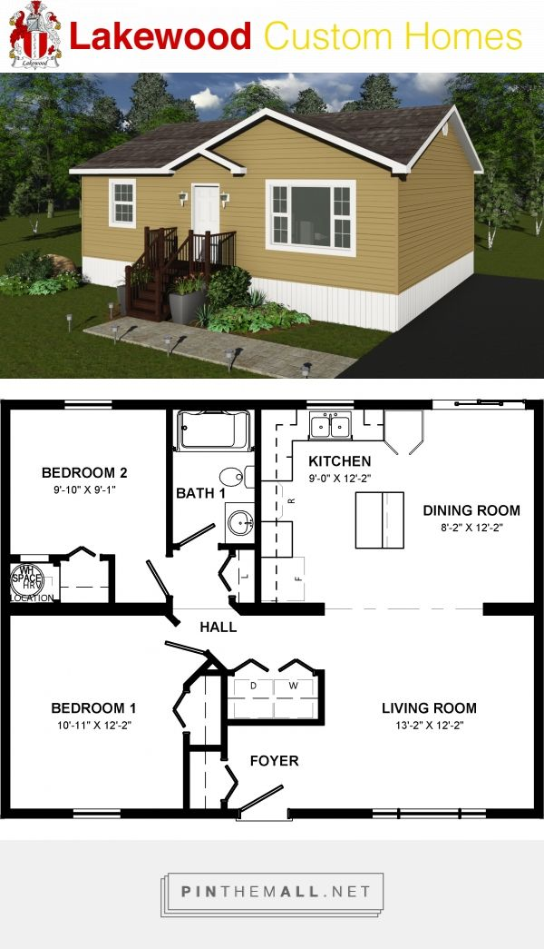 Elm 1008 Sq Ft Cottage 26 X 34 2 Bedrooms 1 Bathroom Small House Plans Tiny House Plans Tiny House Cabin