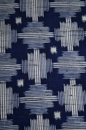 Details about Vintage Japanese Wool Mix Modernist Print Kimono Fabric Patchwork…