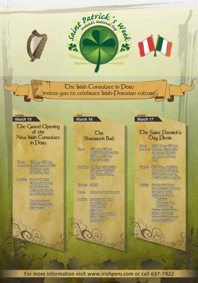 Afiche - Consulado Irlandes