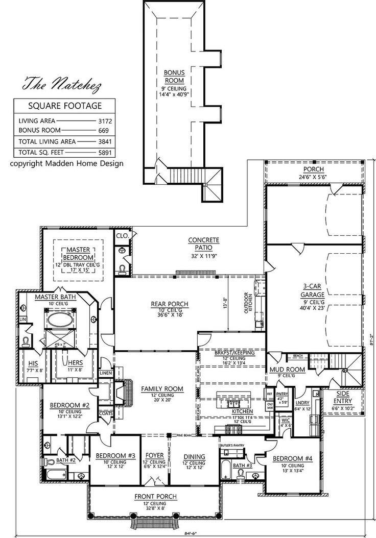 Madden home design the natchez ideas for the house for Madden house plans