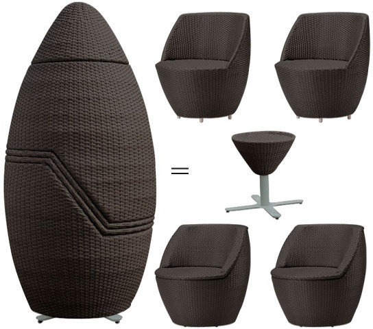 Extra Compact Table And Chair Set, Perfect For An Apartment Balcony !