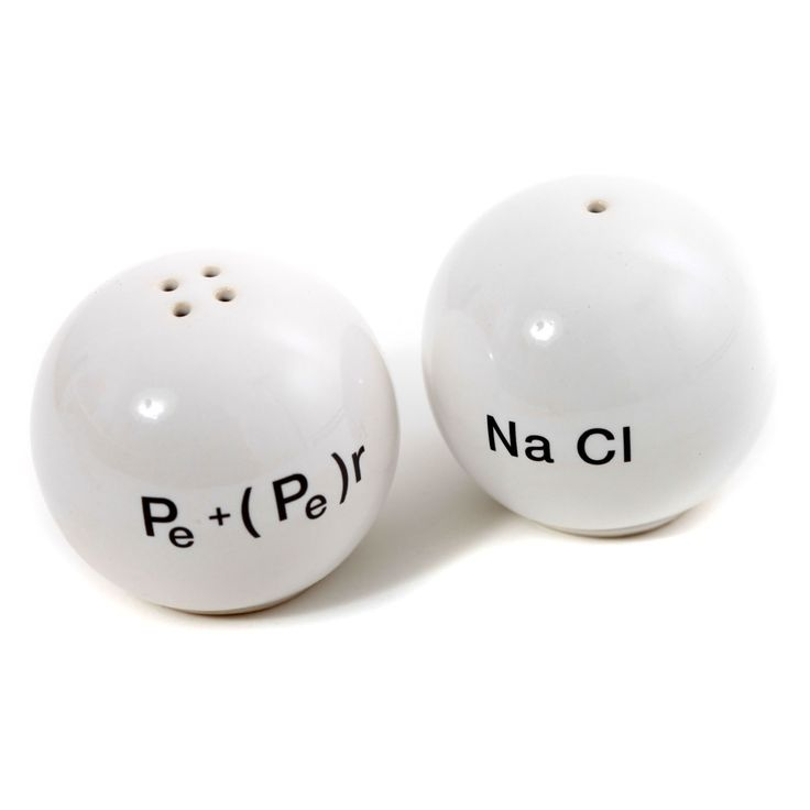 Chemistry Salt and Pepper Dispensers/Shakers